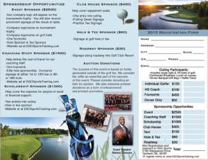 2015-Golf Outing Sponsor Packet